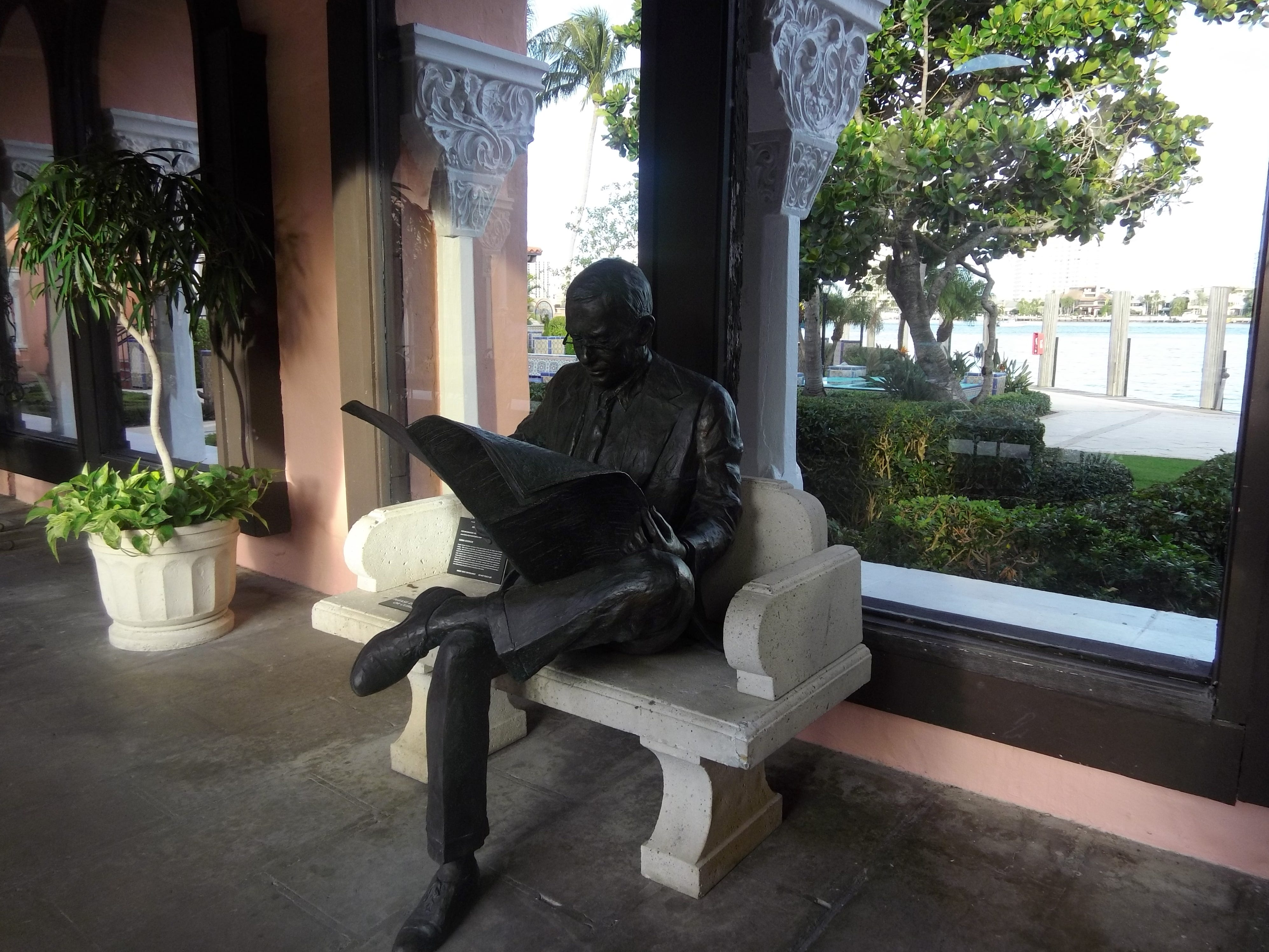 This sculpture, curated by Sponder Gallery, sits in the breezeway between the hotel and The Tower.