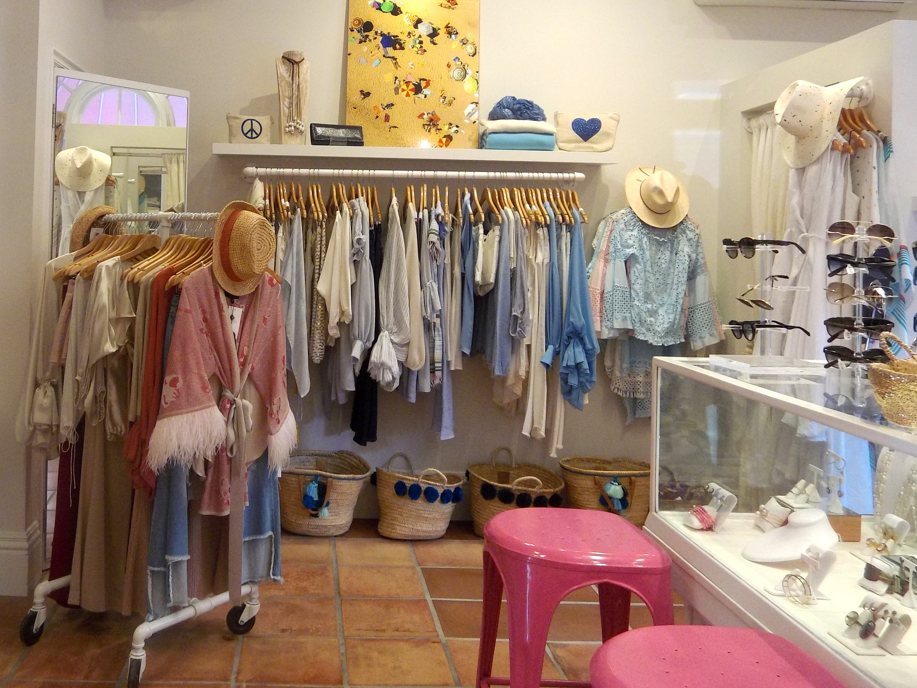 Elegant fashions inside Michelle Farmer Collaborate at Boca Raton Resort & Club.
