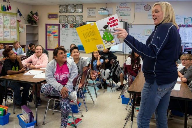 At Sinton Elementary School in Sinton, Texas on Sept. 17, 2018.