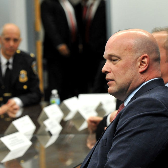 Acting Attorney General Matthew Whitaker in Des Moines, Iowa, on Nov. 14, 2018.