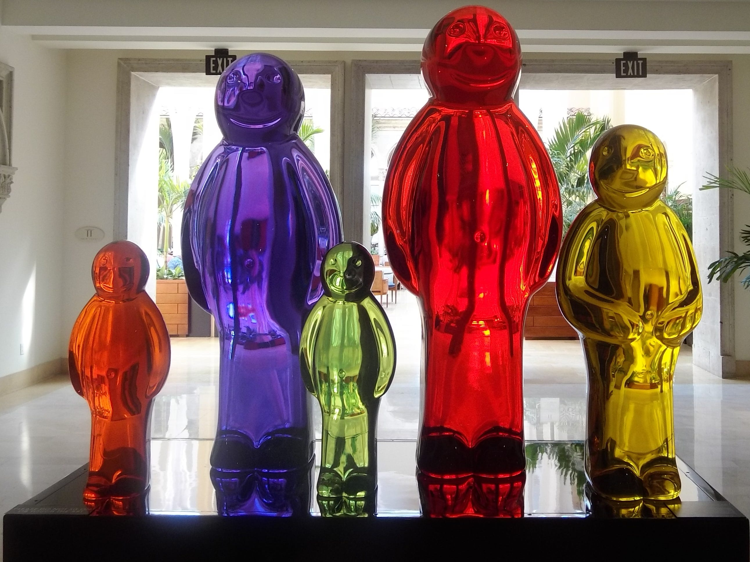 """""""Jelly Baby Family"""" by Mauro Perucchetti is one of the works of art on display through Sponder Gallery, and is available for purchase."""