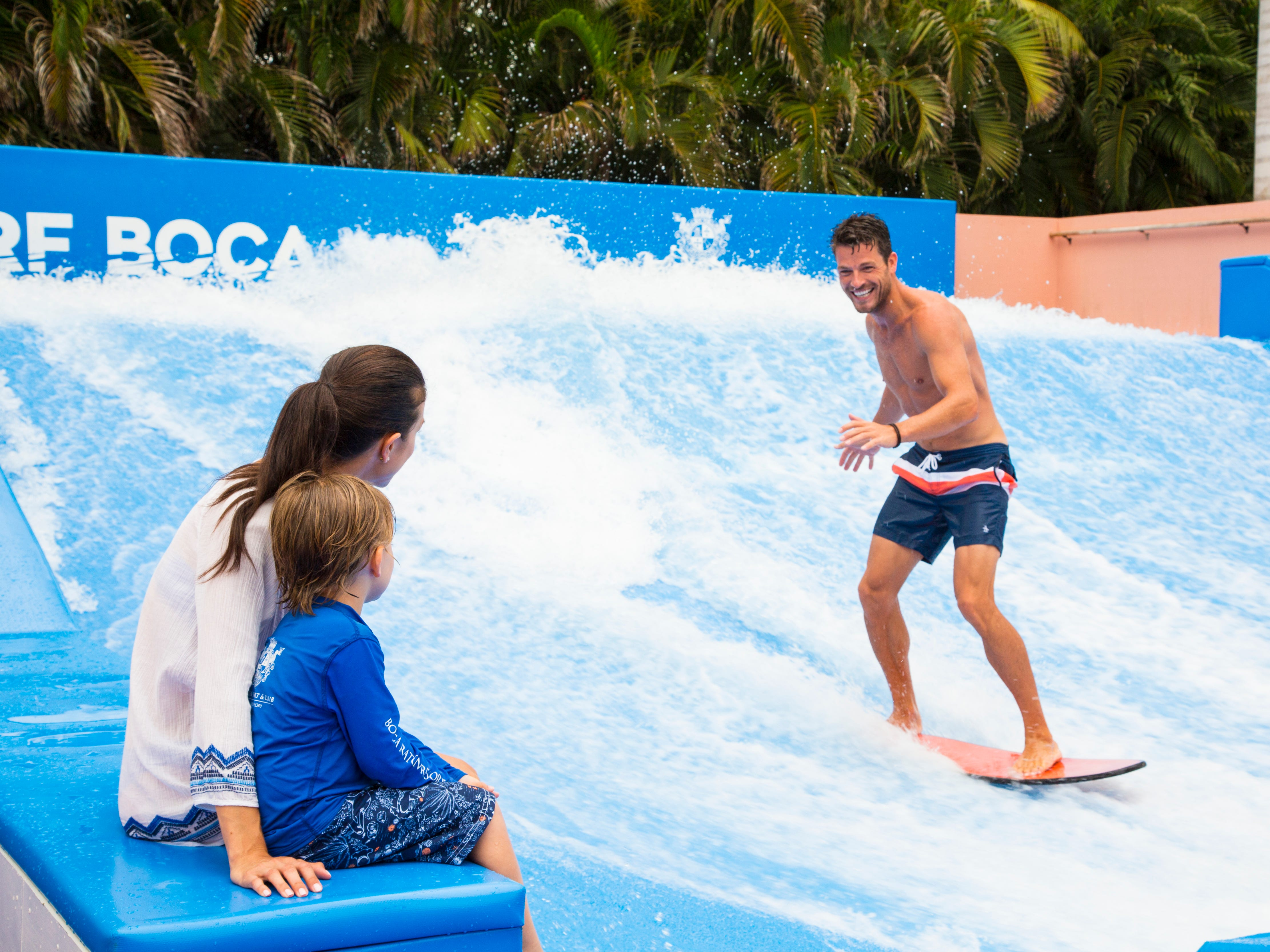 South Florida's first FlowHouse, a dual-sided FlowRider wave simulator for flow and bodyboarding, at Boca Raton Resort & Club.