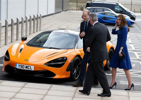 The car may be flashy but Duchess Kate? Never.