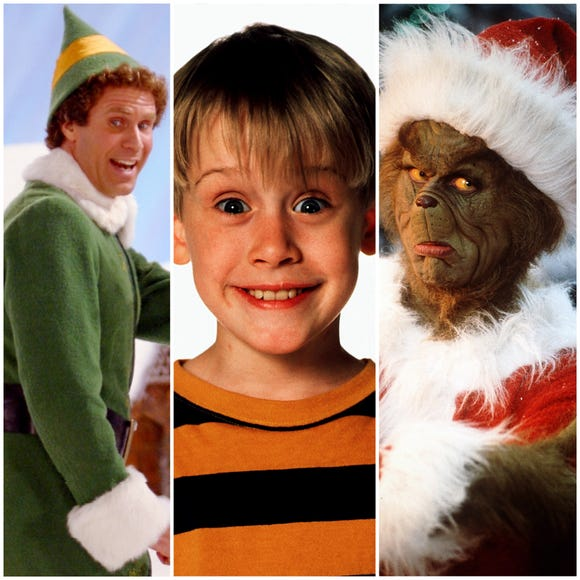 """Elf,"" ""Home Alone,"" and ""How the Grinch Stole Christmas"" are all Christmas classics, according to millennials."