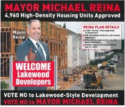 Campaign literature attacking Jackson Mayor Michael Reina in 2018.