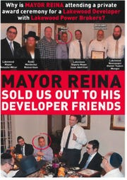Campaign literature attacking Jackson Mayor Michael Reina