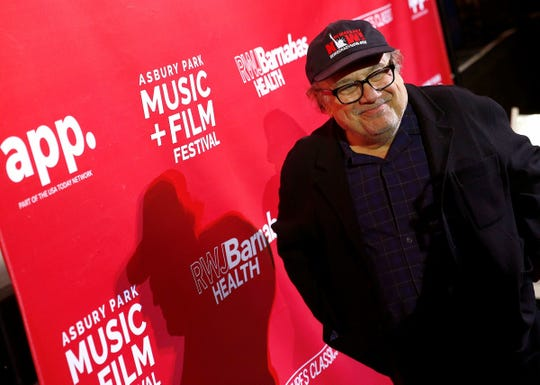 Actor and Asbury Park native Danny DeVito smiles during an Asbury Park Music + Film Festival photo session at the Paramount Theater in Asbury Park Saturday, April 28, 2108.