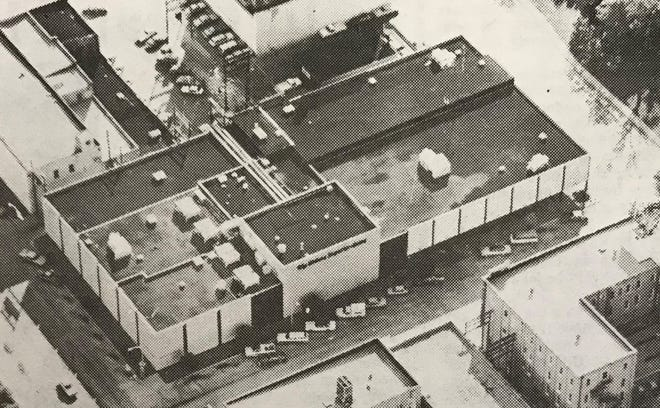 A aerial photo of the Abilene Reporter-News from 1981.