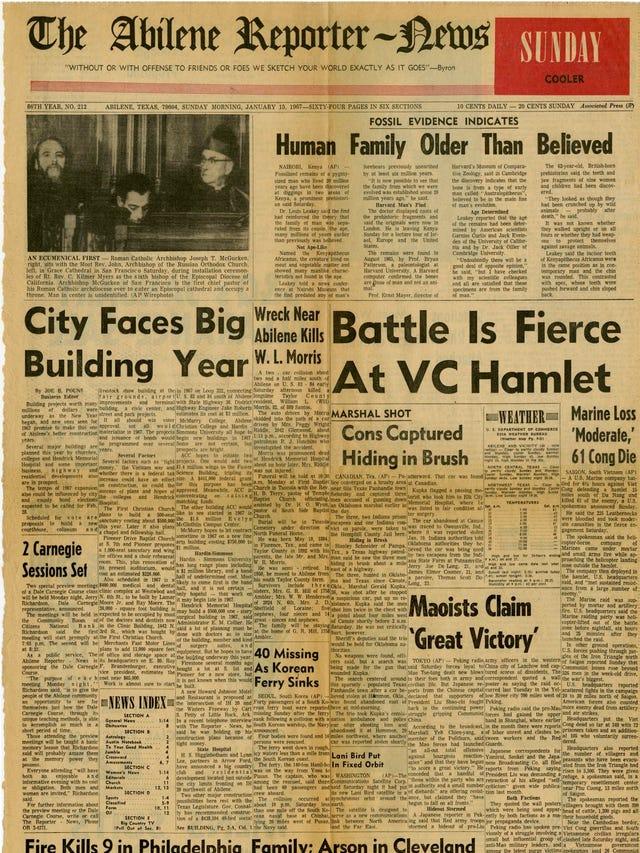 A timeline of the Abilene Reporter-News