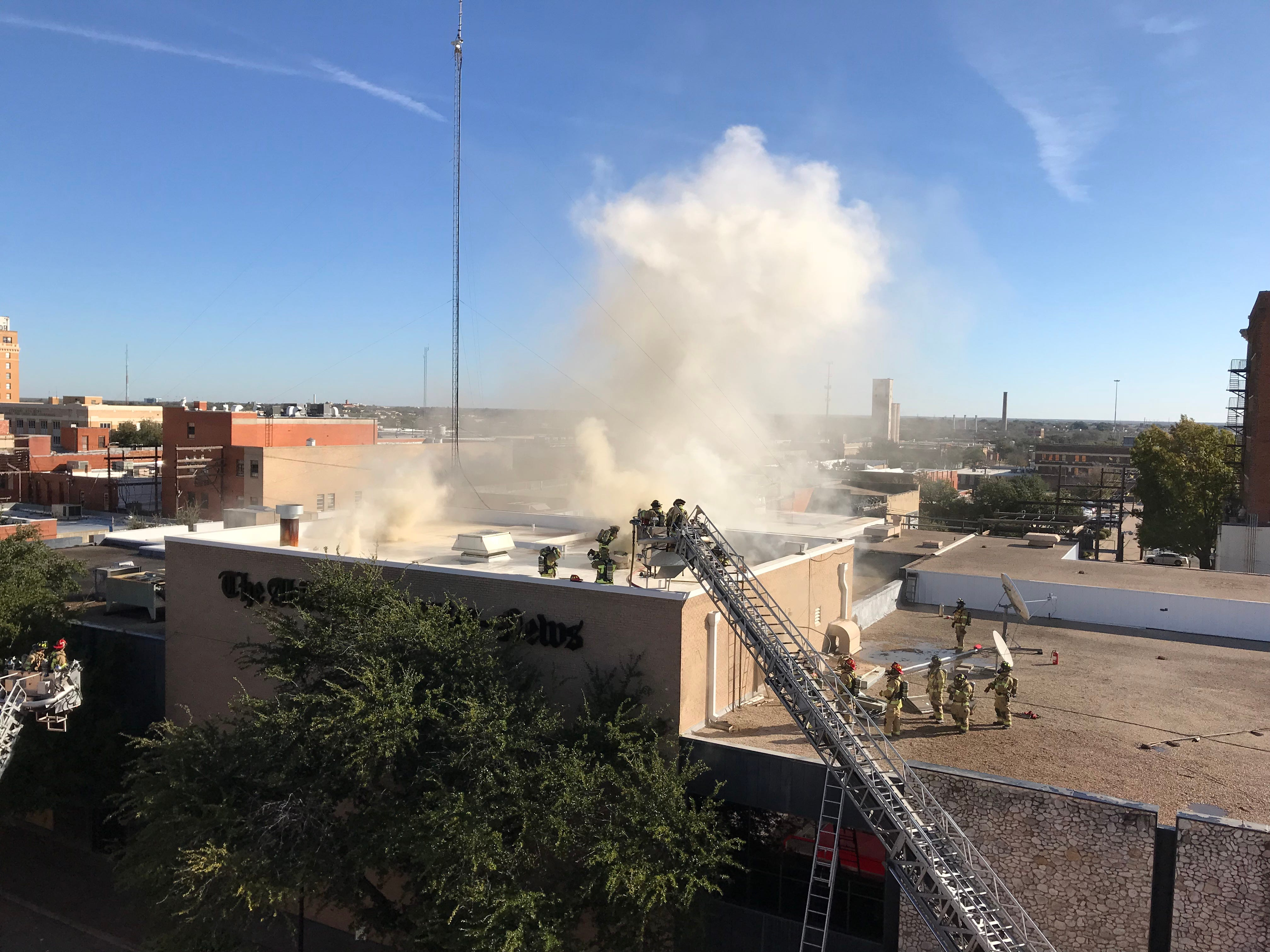 Abilene Reporter-News building fire causes firefighters to shut Cypress Street