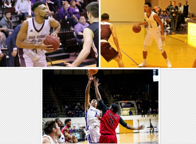 Mike Williams Jr. (top left), Joe Hoeup (top right) and Jaren Lewis (bottom) are all getting their basketball seasons underway. The players will also each be spending Thanksgiving away from their families as they play the early parts of their basketball season.