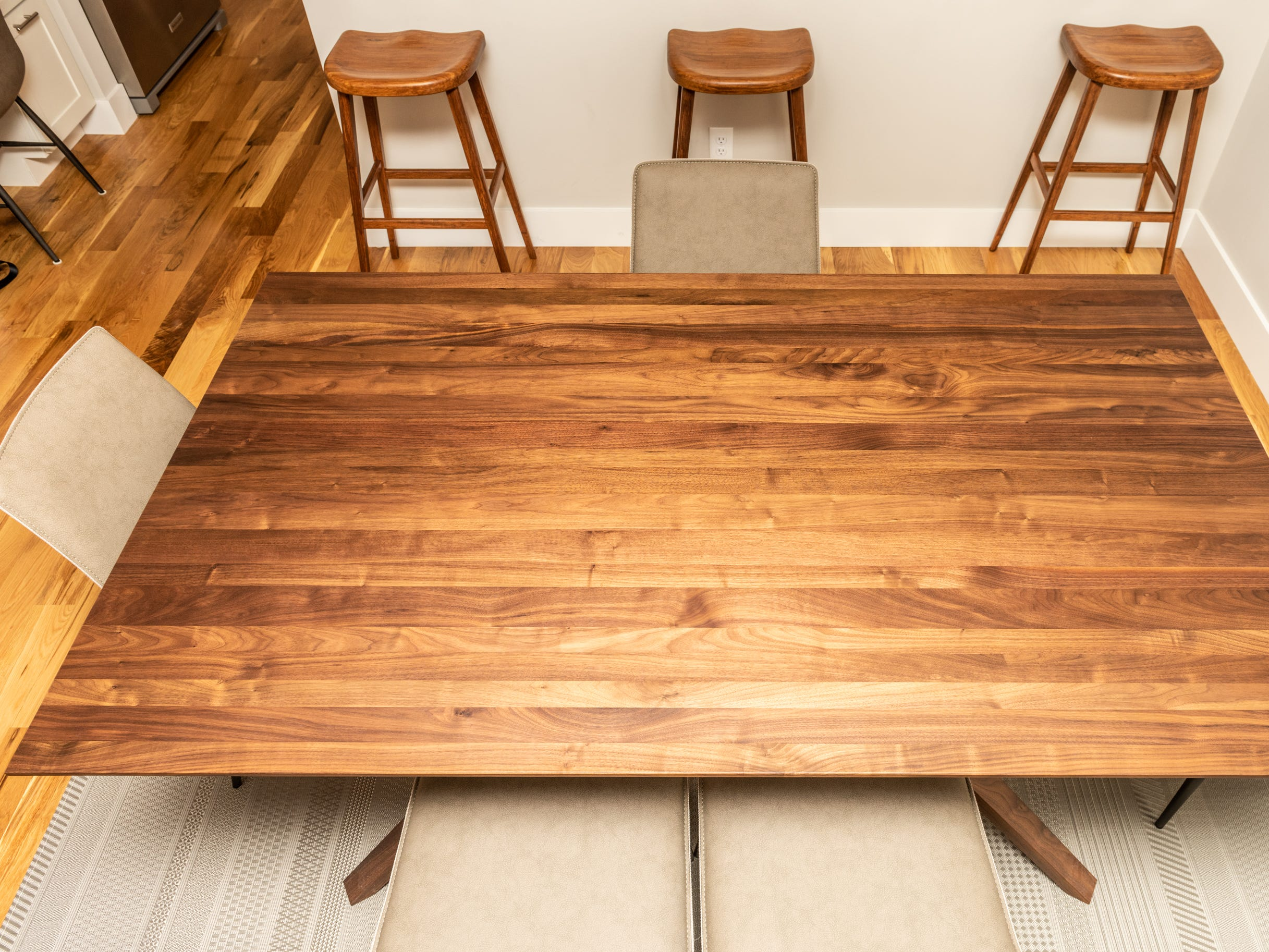 Dining room table at the home of Pat and Ron Hart in Asheville's Montford neighborhood.