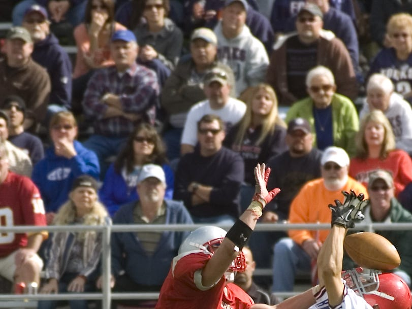 From 2012: Chenango Forks' Nick Cannon, right, tries to intercept a pass intended for CV?s Eric Silvanic.