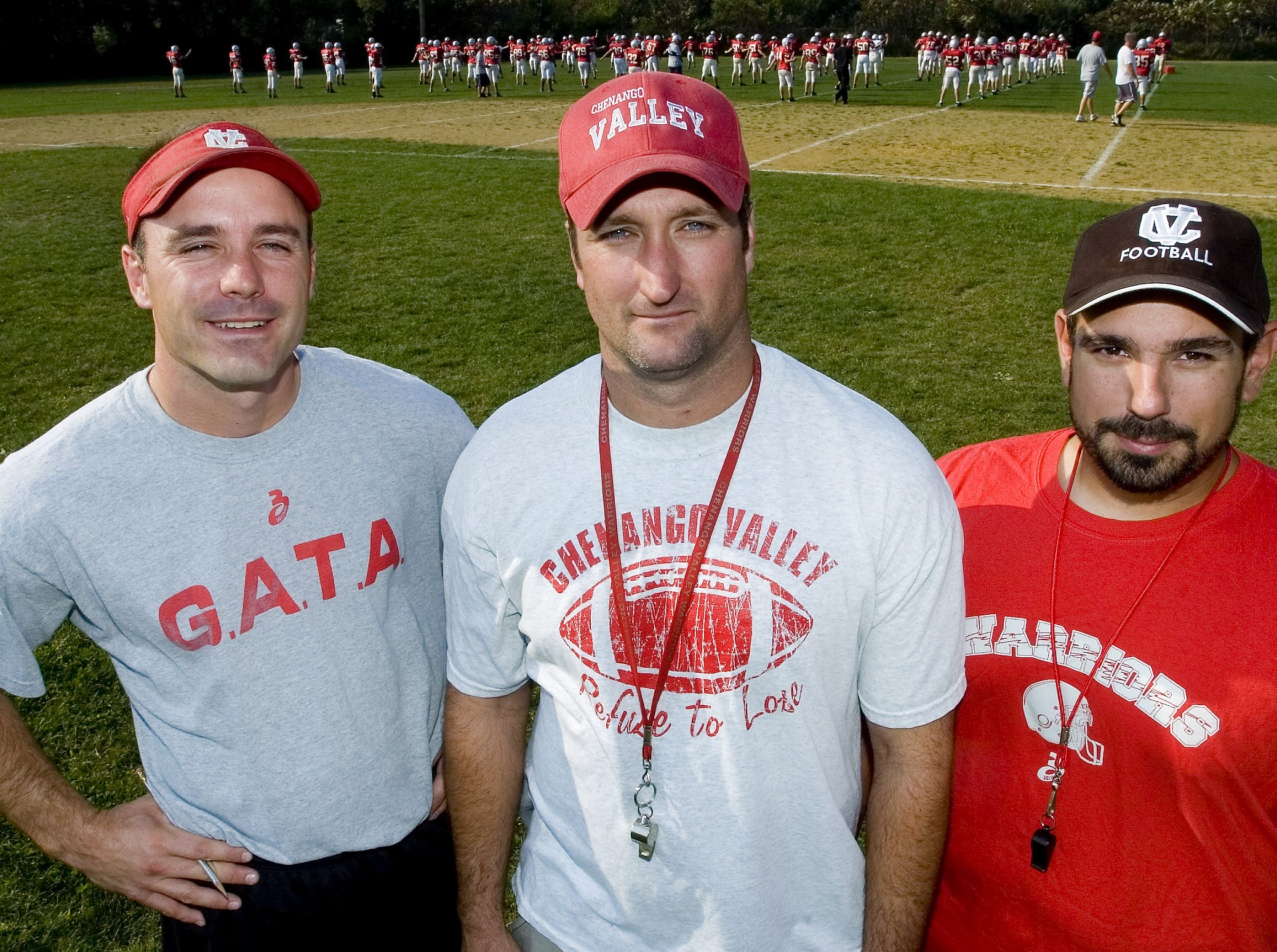From 2007: Chenango Valley Football coaches, from left, Scott Kline, Jay Hope and Mike Turna were key players in the 1989 CV win over Chenango Forks.
