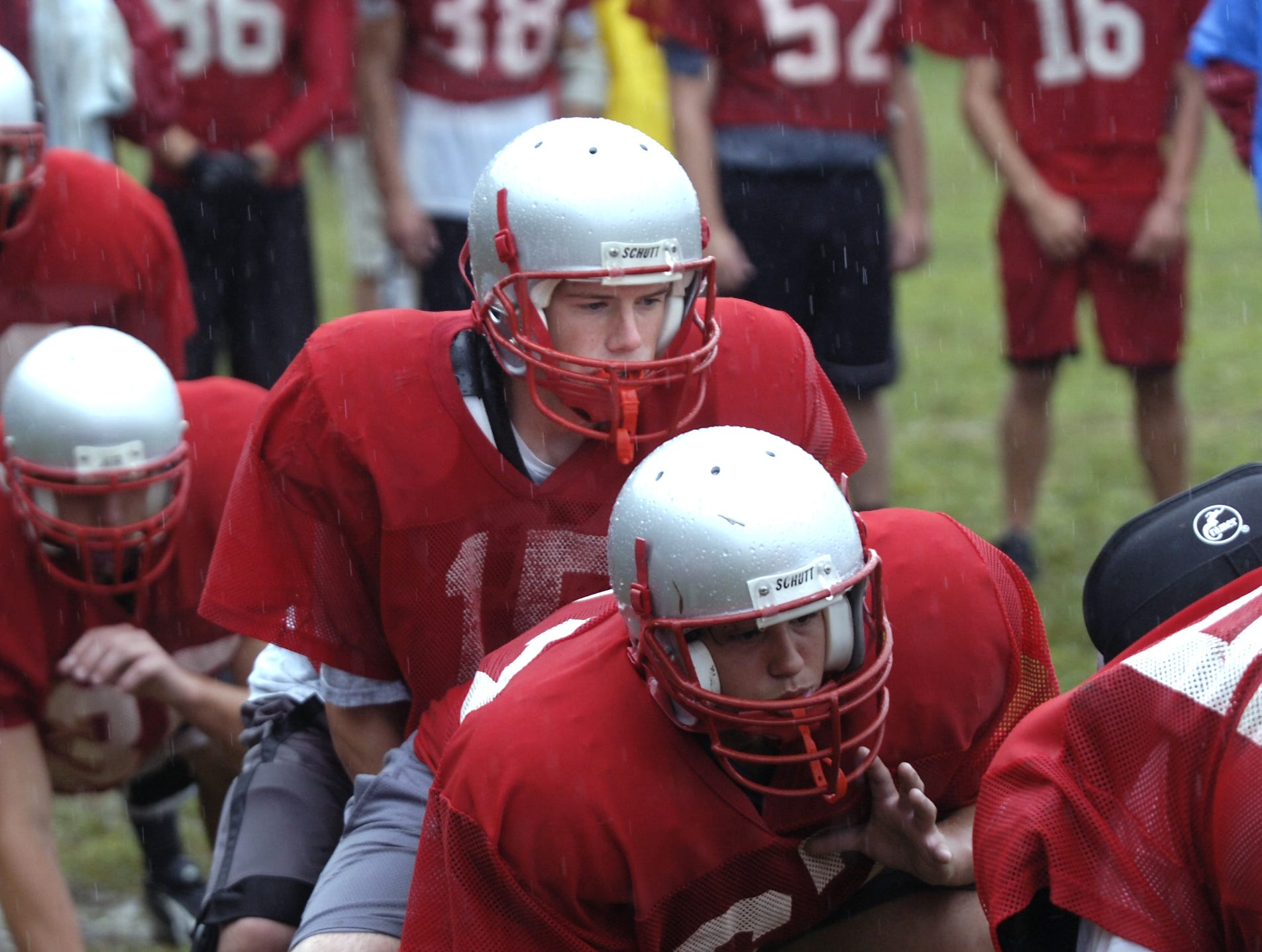 From 2006: Chenango Valley quarterback Matt Mullins starts a play during practice Friday.