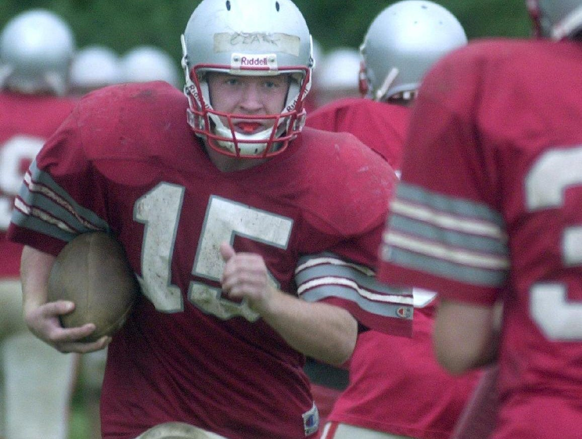 From 2001: Chenango Valley's Mike Clark runs through a drill during practice.