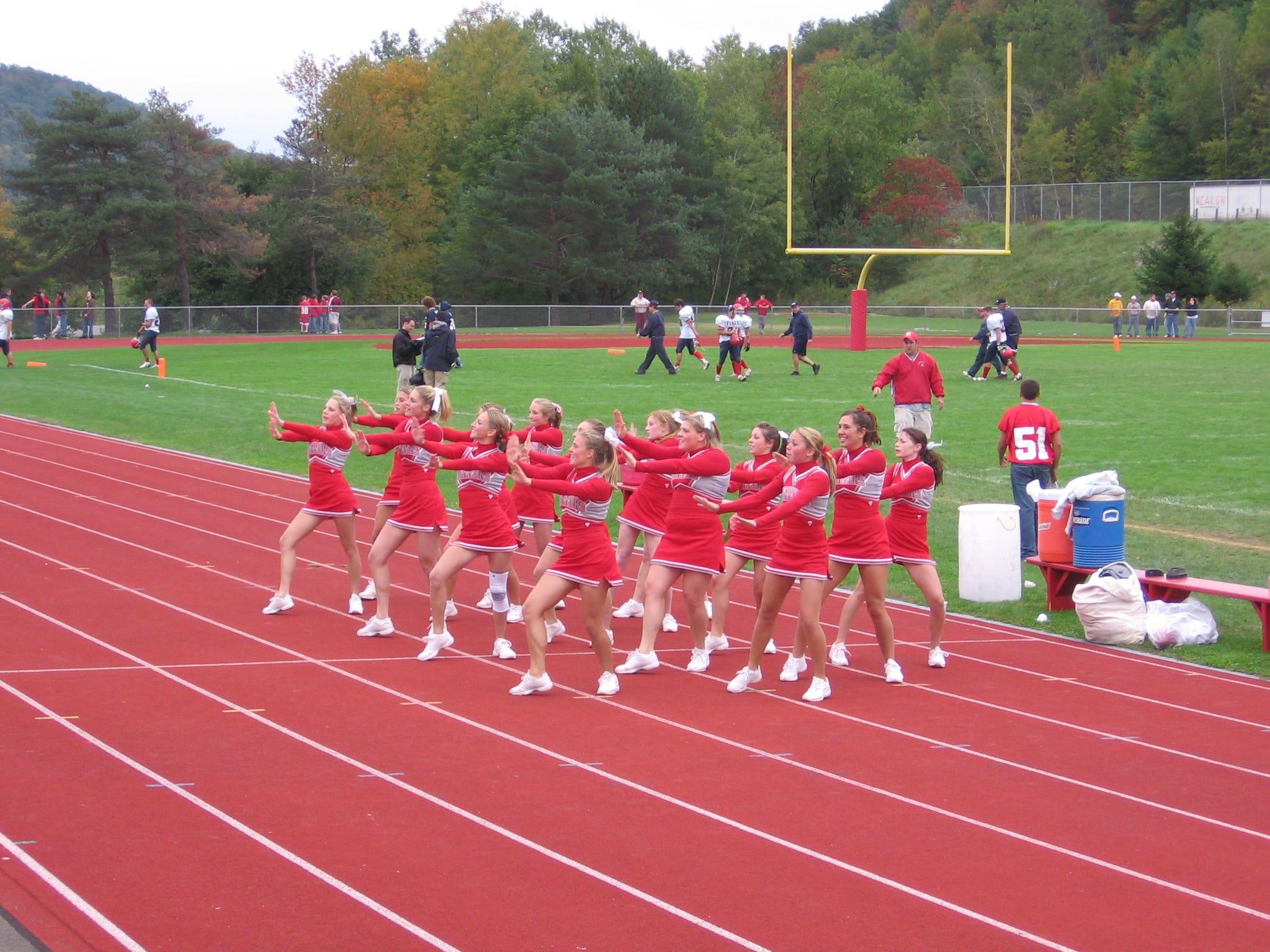 From 2018: Chenango Valley Cheerleaders show their school spirit