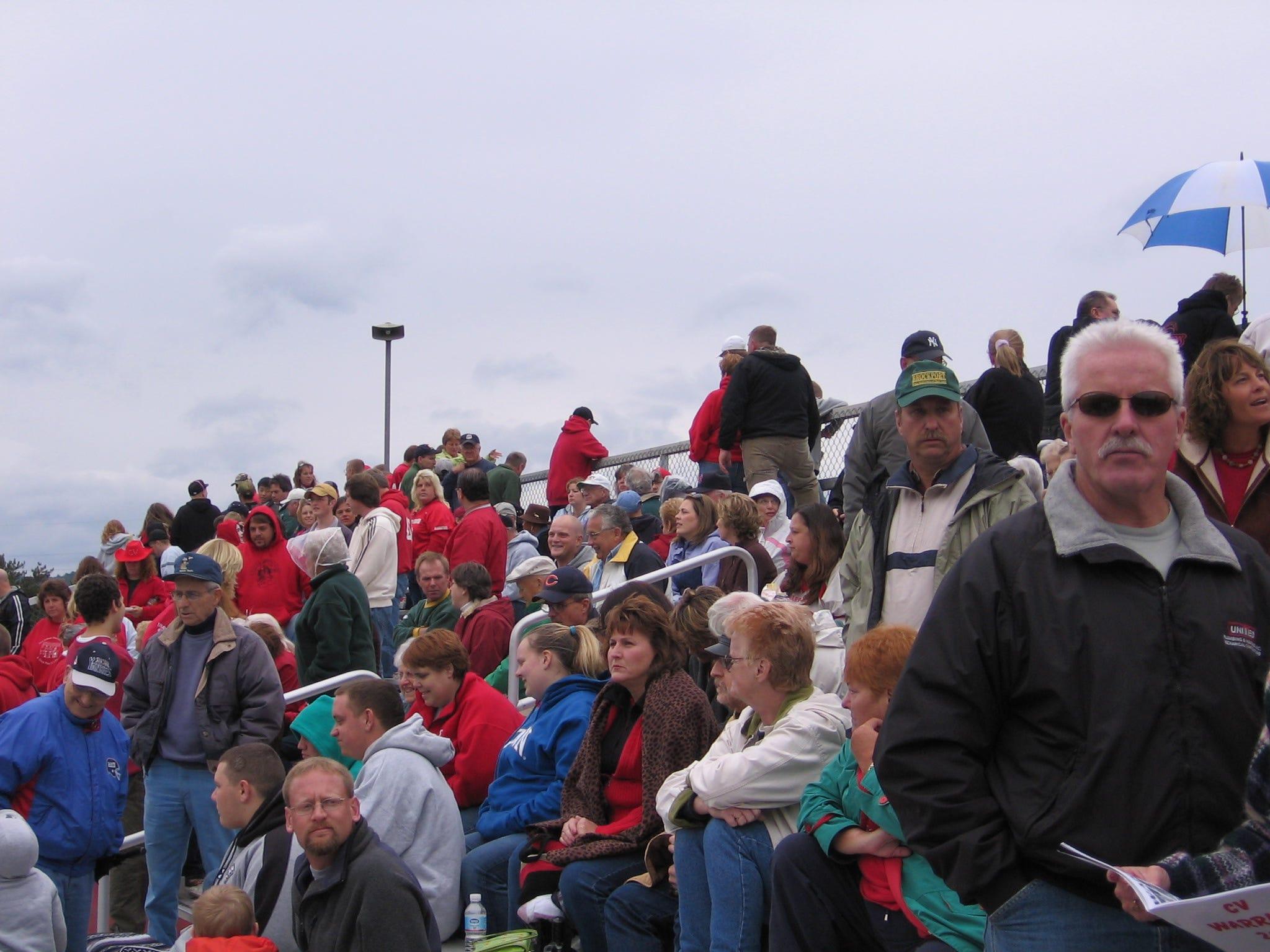 Chenango Forks/Chenango Valley High Schools football game crowd