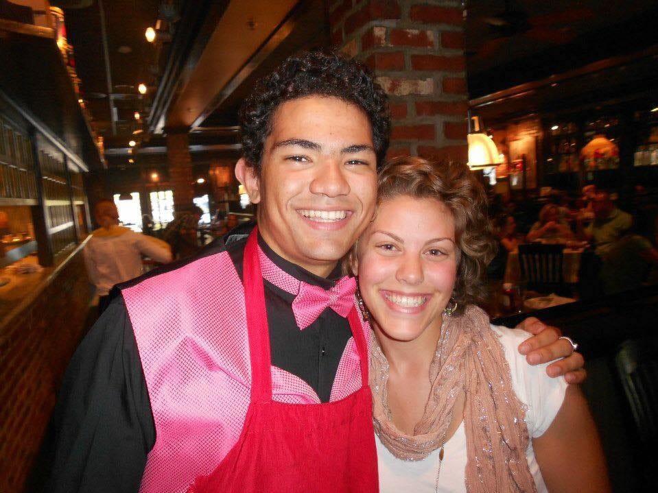 Megan Santa Croce, right, with JJ Bullis.