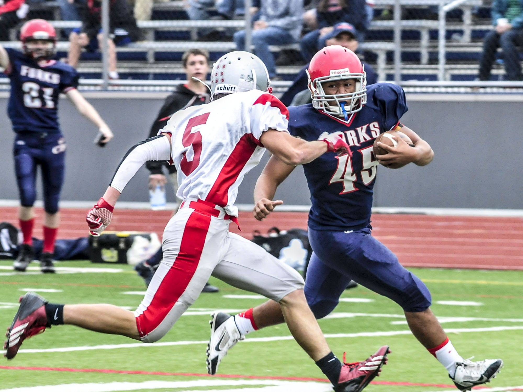 From 2013: Chenango Forks' Isaiah Zimmer had a key run that was not for a touchdown but led to Forks' big push Saturday against rival Chenango Valley.