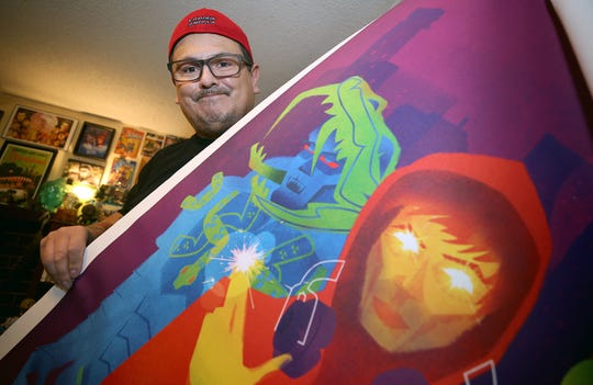 Works by S'Klallam artist Jeffrey Veregge now adorn a wall at the Smithsonian National Museum of the American Indian in New York City.