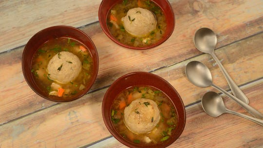 L'Chaim! Holiday Kitchen at Epcot features a delicious Chicken and Matzo Ball Soup.