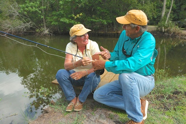 Fly fishing expert Jon Cave, right, will be among the notables talking fly fishing at the Renzetti Fly Fishing and Rod Building Fair in Titusville on Dec. 7-8. Cave, along with noted national fly tier Bob Clouser will offer an expanded fly fishing school.