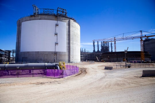 Cheniere Energy, Inc. will hold an opening celebration for the Corpus Christi Liquefaction facility with national, state and local leaders, and commercial partners in recognition of the startup of the first greenfield liquefaction plant built in the lower 48 states on Thursday, November, 15, 2018 in Gregory, TX. Construction is ongoing, as seen during the drive through the plant.