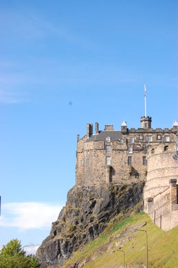 Built on an extinct volcano, Edinburgh Castle and the ground it stands upon is picturesque and full of history.