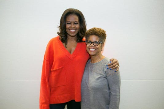 Michelle Obama and Verna Williams