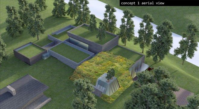 A concept design for Clifton Cultural Arts Center facility near Burnet Woods Drive.