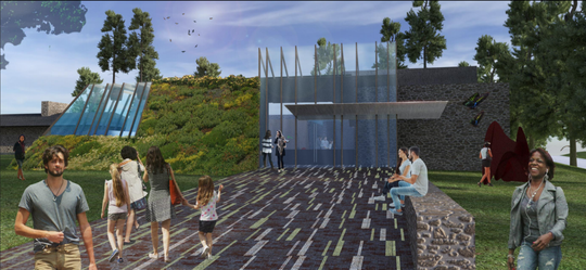 A concept design for Clifton Cultural Arts Center facility near Burnet Woods Drive.