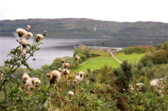 Urquhart Castle sits on Loch Ness. I explored the shoreline, but didn't spot Nessie. Can you?