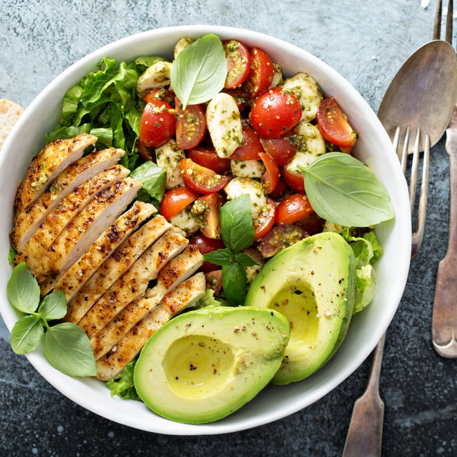 Grilled chicken and avocado