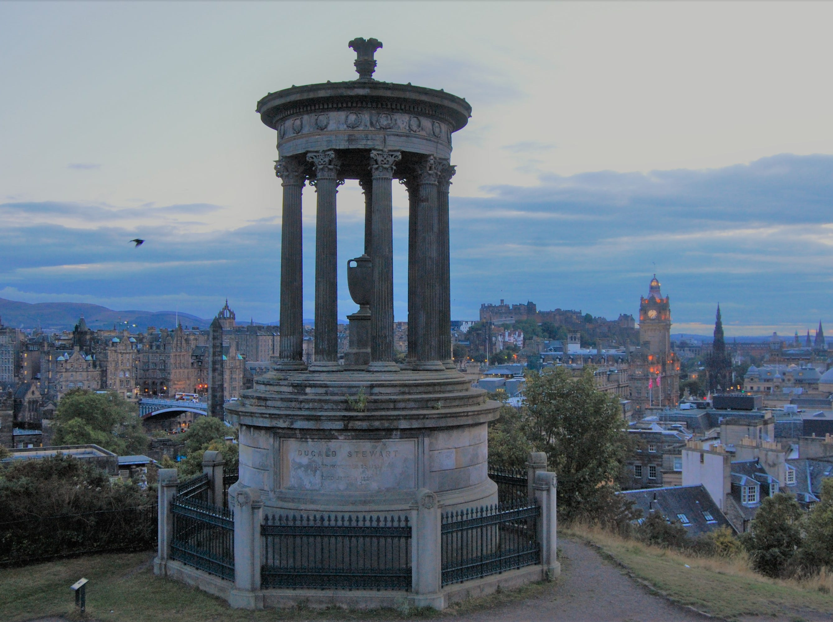 Calton Hill provides sweeping views of Edinburgh.