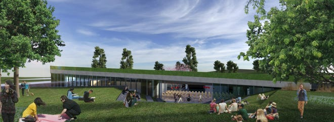 A concept design for Clifton Cultural Arts Center facility near Brookline Avenue off of Martin Luther King Drive.