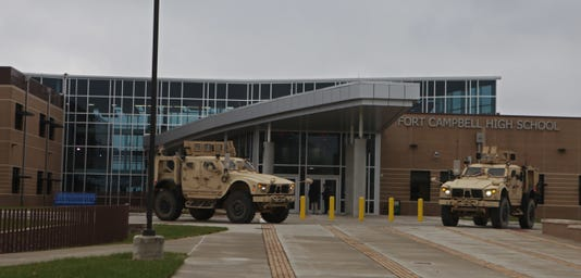 Ribbon Cutting At Fort Campbell High School