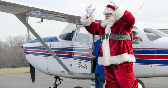 Santa will fly into Solberg Airport in Readington on Nov. 24 and Central Jersey Regional Airport on Dec. 9 to celebrate the holidays with local children.