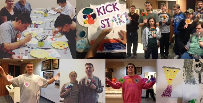 Flemington DIY's Kick StART art classes which launched two years ago to provide art classes for kids, adolescents, and adults with varying neurological and physical disabilities.