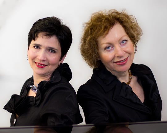 Pianists Inessa Gleyzerova-Shindel and Galina Prilutskaya will perform on Sunday, Nov. 18, at Jacobs Music in Lawrenceville.
