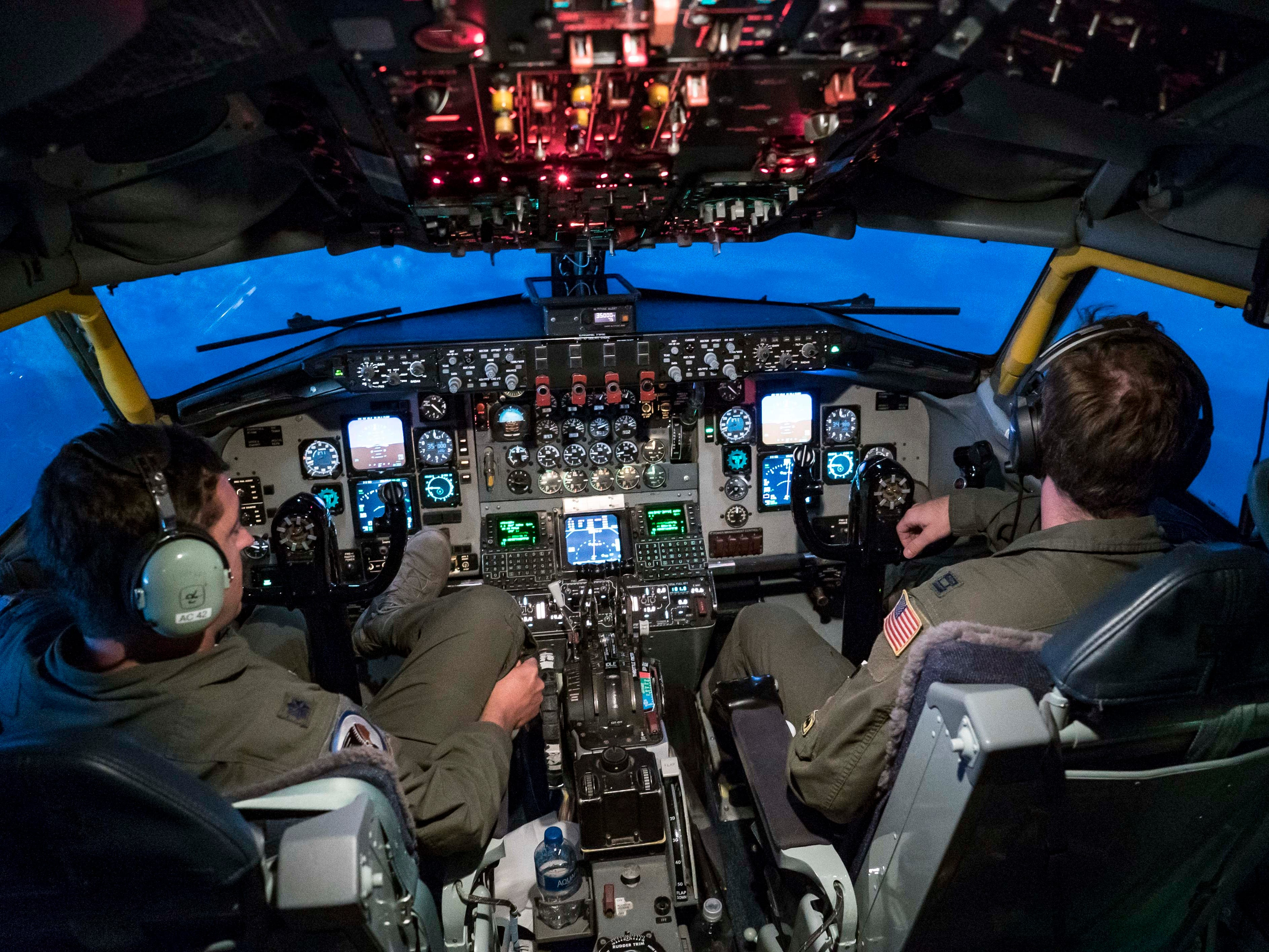We left Des Moines with the Iowa National Guard flying to Kosovo, Sept. 16, 2018, in a KC-135E Stratotanker on the 10-hour flight.