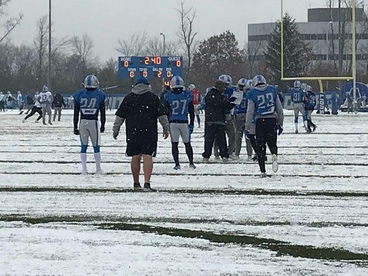 Detroit Lions snow