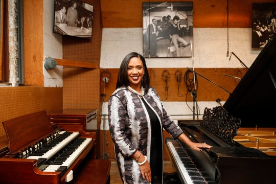 Robin Terry, chairwoman and CEO of the Motown Museum, in Hitsville's Studio A in Detroit, Tuesday, Nov. 13, 2018.