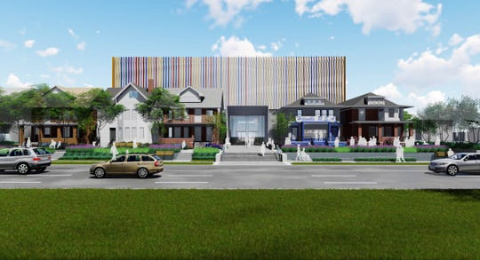 A conceptual design picturing the expansion of the Motown Museum from the West Grand Boulevard vantage point.