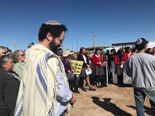 Michigan Rabbi Josh in Tornillo, Texas tent city camp