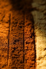 The spice combination that makes up homemade pumpkin pie spice; from left, cloves, cinnamon, nutmeg and ginger. (Christian Gooden/St. Louis Post-Dispatch/TNS)