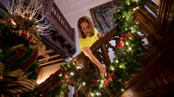 The historic home gets its annual makeover for the holidays