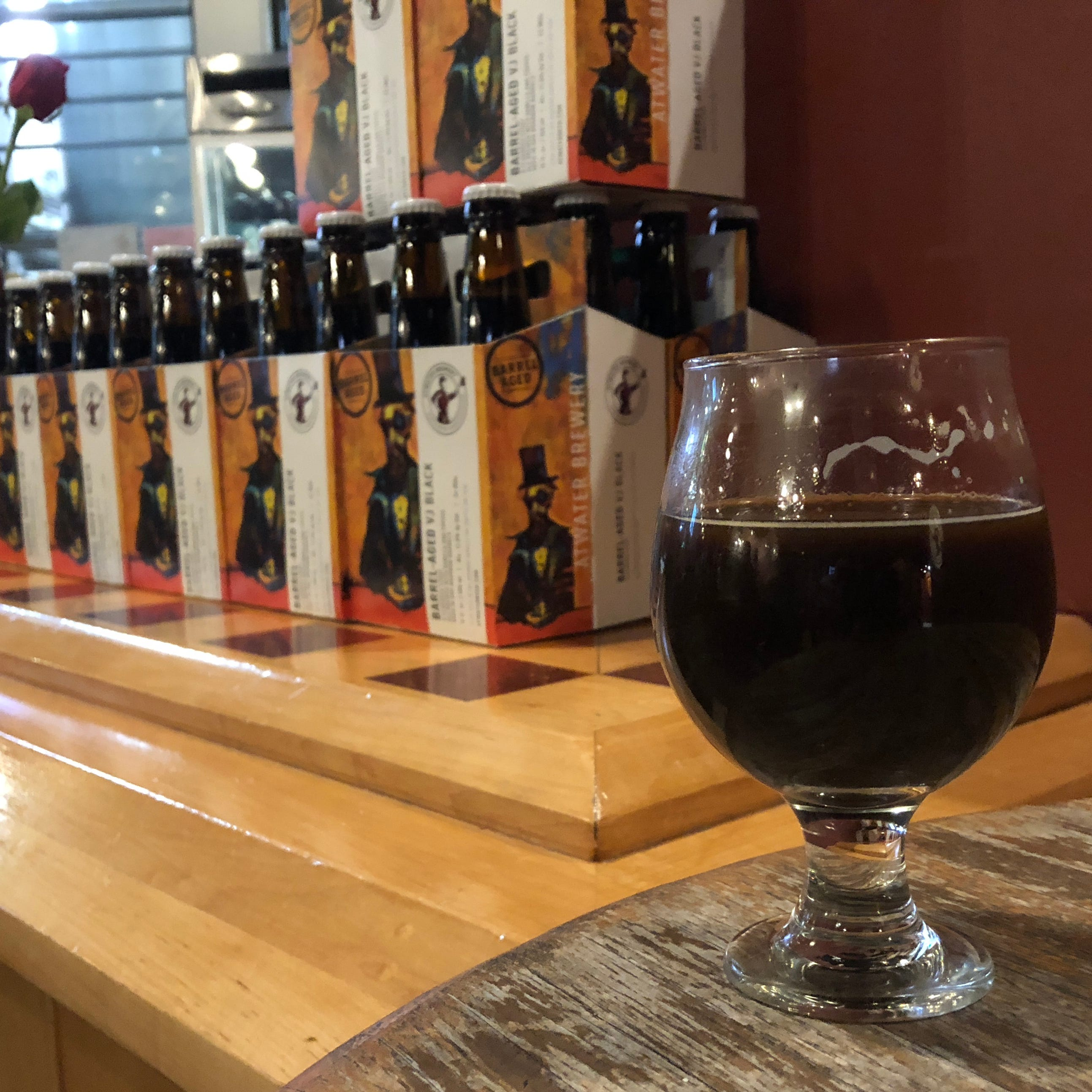 Atwater releases its first-ever barrel-aged imperial stout, BA VJ Black