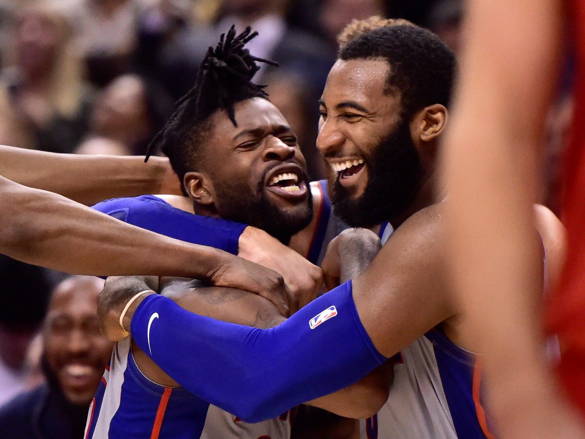 Pistons win one for Casey on Bullock's buzzer-beater