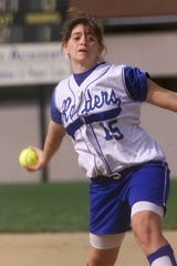 Chemung County Sports Hall of Fame 2018 inductee Sara Surosky Blauvelt delivers a pitch for Horseheads in 2003.